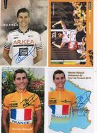 4 CARTES SIGNEES WARREN BARGUIL DONT 2 PHOTOS - Cyclisme