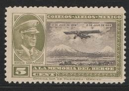 Mexico 1929 - Sc C5, 5cts - Emilio Carranza - AIR MAIL - MNH - Mexico