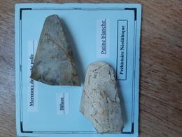 Lot De 2 Haches Polies Du Néolithique En Silex, Catenoy (60) - Archéologie