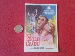 SPAIN PROGRAMA DE CINE FOLLETO MANO CINEMA PROGRAM PROGRAMME FILM PELÍCULA EL ÍDOLO CAIDO RICHARD HARRIS ROMMY SCHNEIDER - Publicidad