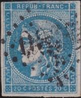 France   .    Yvert  .      46B   (2 Scans)      .     O     .    Oblitéré   .   /   .     Cancelled - 1870 Emission De Bordeaux