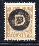 APR1352 - INDIE OLANDESI , Servizio 15 Cent Soprastampato . Linguella * - Indie Olandesi