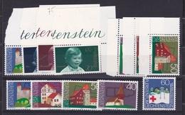 1975 Liechtenstein 4 SERIE (563-65 + 568 + 573-76 X 2) MNH** - Liechtenstein