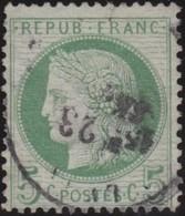 France   .    Yvert  .       53    .     O     .    Oblitéré   .   /   .     Cancelled - 1876-1878 Sage (Type I)