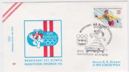 Austria Cover 1976 Olympic Games Innsbruck - Werbefahrt Des Olympia Maskottchens (G99-37) - Winter 1976: Innsbruck