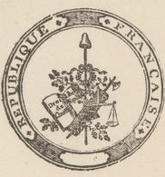 """Val-aux-Mines An 2 - 5.8.1794 Ste Marie Aux Mines Héraldique ''Battre Au Grange"""" - Documentos Históricos"""