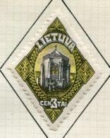 13132 LITUANIE Collection Vendue Par Page  N°190, 201/6, 212/4, 232/3  */ °   1924-25   B/TB - Litauen