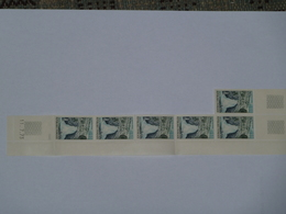 Bande 5 Timbres + 1 YT N° 1764 Daté 11 7 73 - Esquina Con Fecha