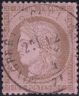 France   .    Yvert  .       58      .     O     .    Oblitéré   .   /   .     Cancelled - 1876-1878 Sage (Type I)