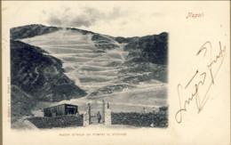 1900- Cartolina Napoli Nuova Strada Da Pompei Al Vesuvio Viaggiata - Napoli