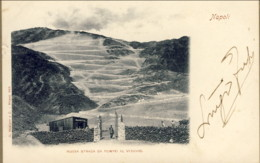 1900- Cartolina Napoli Nuova Strada Da Pompei Al Vesuvio Viaggiata - Napoli (Naples)