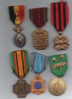 Lot 6 Médailles Militaires Belges - Belgium