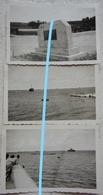 Photo ARROMANCHES LES BAINS Port Artificiel Omaha Beach Normandie 1949 - Guerre, Militaire