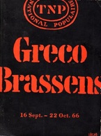 PROGRAMME SPECTACLE BRASSENS GRECO AU TNP EN 1966 - VOIR PHOTOS ET DESCRIPTION - - Programmes