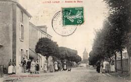 Saint-Loup-sur-Semouse  70   L'Avenue De Bains Tres Tres Animée-Au Fond L'Eglise - France