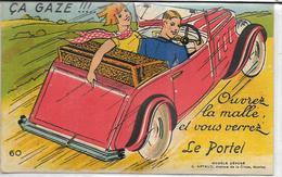 62 LE-PORTEL . Carte à Système , Les 10 Clichés Sont Dans Le Coffre , édit : G Artaud Nantes , Années 50 , état Extra - Le Portel