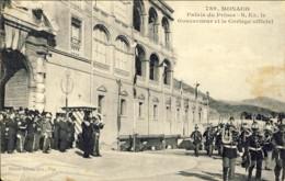 """1911-Monaco """"Palais Du Prince-S.Ex.le Gouverneur Et Le Cortege Officiel"""" - Monaco"""