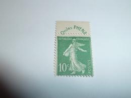"""Publicité """"Ovules PHENA"""" Sur TYPE SEMEUSE FOND PLEIN 10c Vert YT N° 188 (1924-1926) - Publicidad"""