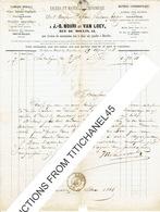 Facture 1866 - ST-JOSSE-TEN-NOODE - J.-B. NOURI & VAN LOEY - Fabrique De Presses - Fonderie Caractères Typographiques - - Printing & Stationeries