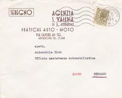 BUSTA  VIAGGIATA - SEREGNO ( MONZA E DELLA BRIANZA )  PRATICHE AUTO - MOTO - VIAGGIATA PER BERGAMO - 6. 1946-.. Repubblica