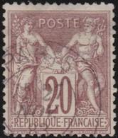 France   .    Yvert  .      67      .     O       .    Oblitéré   .   /   .     Cancelled - 1876-1878 Sage (Type I)