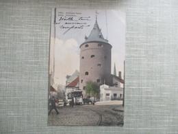 CPA LETTONIE RIGA PULVERTURM TRAMWAY ANIMEE - Lettonie
