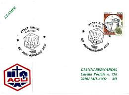 ITALIA - 1995 RIMINI (FO) 50° Anniv. ACLI Associazioni Cristiane Lavoratori - Organizzazioni