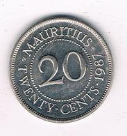 20 CENTS 1987 MAURITIUS /4513/ - Mauricio