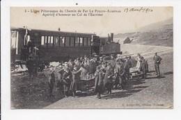 CPA 07 Ligne Pittoresque Du Chemin De Fer Le Pouzin Aubenas Aperitif D'honneur Au Col De L'Escrinet - Le Pouzin