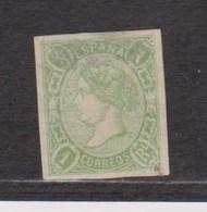 Año 1865  Edifil 72 1r Isabel II  Marquilla A.Roig En El Reverso - Gebraucht