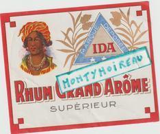 Vieux  Papier : étiquette  Rhum : IDA , Grand    Arôme  , Martinique - Rhum