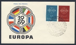 Belgie Belgique Belgium 1959 FDC + Mi 1164 /5  YT 1111 /2 Sc 536 /7 SG 1702 /3 - Europa : Salon Philatelique De L'Europe - Filatelistische Tentoonstellingen