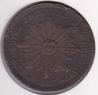 REPUBLICA ORIENTAL DEL URUGUAY. 40 CENTESIMOS 1857 D. KM# 10 - Uruguay
