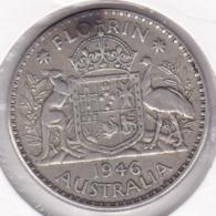Australie, 1 Florin 1946 Melbourne, George VI, En Argent, KM# 40a - Florin