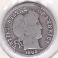 Etats-Unis. One Dime 1903 O Nouvelle Orléans, Barber, En Argent - 1892-1916: Barber