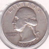 Etats-Unis. Quarter Dollar 1952 . Washington. Argent - 1932-1998: Washington