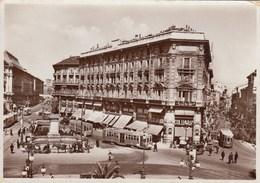 MILANO-PIAZZA CORDUSIO-TRAM-CARTOLINA VERA FOTOGRAFIA VIAGGIATA IL 23-6-1937 - Milano (Milan)