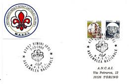ITALIA - 1989 RIMINI (FO) Assemblea Naz. MASCI (movimento Adulti Scout Cattolici Italiani) - Scoutismo