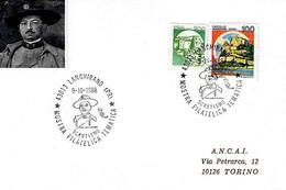 ITALIA - 1988 LANGHIRANO (PR) Mostra Filatelica SCOUTISMO - CARLO COLOMBO Fondatore Giovani Esploratori Scout - Scoutismo