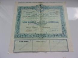 LA CONFIANCE Entrepot De Vins,brasserie Malterie (1902) - Azioni & Titoli