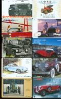 10 Télécartes Différentes VOITURE  (LOT 4)  10 DIFFERENT PHONECARDS CAR  * 10 VERSCHIEDENE TELEFONKARTEN AUTO - Automobili