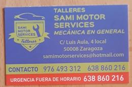 TARJETA DE VISITA TALLERES SAMI MOTOR SERVICIES. MECÁNICA EN GENERAL. - Tarjetas De Visita