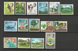 Seychelles YT **188/202 Oiseau Flore Pecheur Bateau Eglise  Surchargés BIOT - Seychelles (1976-...)