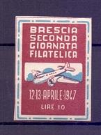 CINDERELLA ERINNOFILIA SECONDA GIORNATA FILATELICA 1947 (GIUGN190034) - Erinnofilia