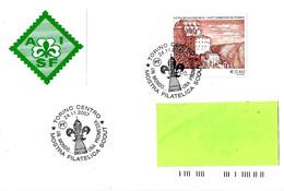 """ITALIA - 2007 TORINO Mostra Filatelica SCOUT """"un Mondo... Una Promessa"""" (mole Antonelliana, Logo Scout) - Scoutismo"""