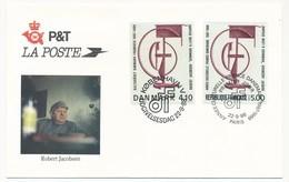 Enveloppe FDC Emission Commune France/Danemark - Robert Jacobsen - 1988 - Emissions Communes
