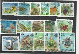 Seychelles YT ** 372/87 Oiseau Flore Tortues Papillon Faune Soumarine - Seychelles (1976-...)