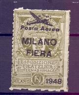 CINDERELLA ERINNOFILIA MILANO FIERA  POSTA AEREA  ESP. FILAT. INTERNAZIONALE 1948  (GIUGN190037) - Erinnofilia