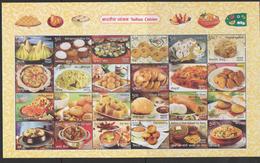 INDIA, 2018, MNH, REGIONAL INDIAN CUISINE, RICE, DAL, LENTILS,  SHEETLET OF 24v - Food