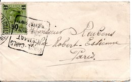 MONACO -- Petite Enveloppe Affranchie Du 50 C.sur 60 C. Louis II -- Oblitération Cachet DAGUIN - Oblitérés